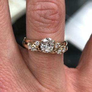 Jewelry - 10k Gold Diamond wedding ring set